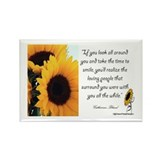 Sunflower Quote Rectangle Magnet (100 pack)
