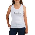 freedom. Women's Tank Top