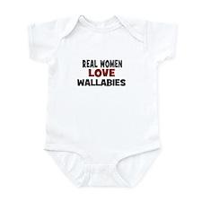 Real Women Love Wallabies Infant Bodysuit