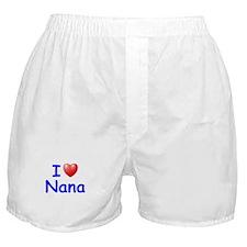 I Love Nana (Blue) Boxer Shorts