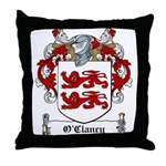 O'Clancy Family Crest Throw Pillow