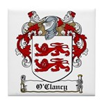 O'Clancy Family Crest Tile Coaster