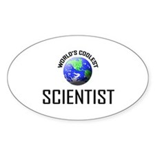 World's Coolest SCIENTIST Oval Decal