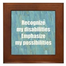 Disability Awareness Framed Tile