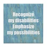 Disability Awareness Tile Coaster