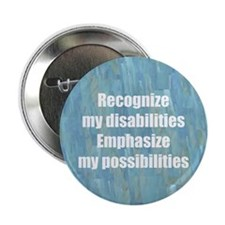 "Disability Awareness 2.25"" Button (100 pack)"