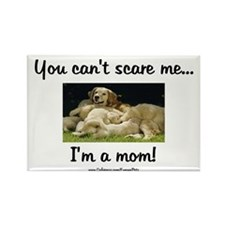 Can't Scare Mom (puppies) Rectangle Magnet (100 pa