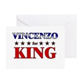 VINCENZO for king Greeting Cards (Pk of 10)