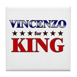 VINCENZO for king Tile Coaster