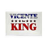 VICENTE for king Rectangle Magnet (10 pack)