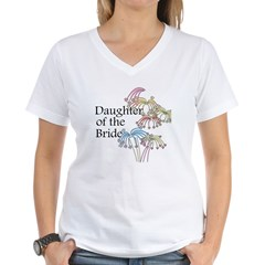 Fireworks Daughter of the Bride Women's V-Neck T-S