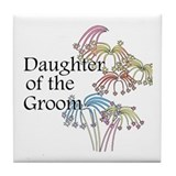 Fireworks Daughter of the Groom Tile Coaster