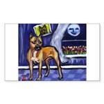 AMERICAN STAFFORDSHIRE TERRIE Sticker (Rectangular