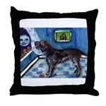 WIREHAIRED POINTING GRIFFON a Throw Pillow