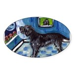 WIREHAIRED POINTING GRIFFON a Oval Sticker