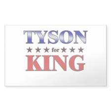 TYSON for king Rectangle Decal