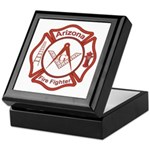 Arizona Masons Fire Fighters Keepsake Box