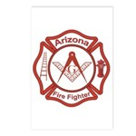 Arizona Masons Fire Fighters Postcards (Package of