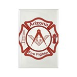 Arizona Masons Fire Fighters Rectangle Magnet