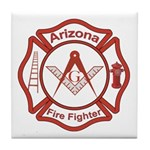 Arizona Masons Fire Fighters Tile Coaster