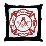Colorado Masons Fire Fighters Throw Pillow