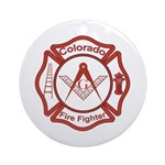 Colorado Masons Fire Fighters Ornament (Round)