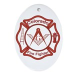 Colorado Masons Fire Fighters Oval Ornament