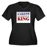 TYRESE for king Women's Plus Size V-Neck Dark T-Sh