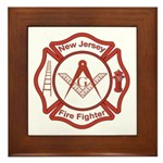 New Jersey Masons Fire Fighters Framed Tile