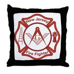 New Jersey Masons Fire Fighters Throw Pillow
