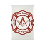 New Jersey Masons Fire Fighters Rectangle Magnet (