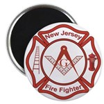 New Jersey Masons Fire Fighters Magnet