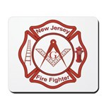 New Jersey Masons Fire Fighters Mousepad