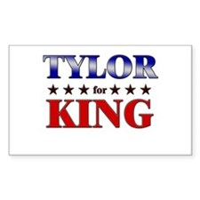 TYLOR for king Rectangle Decal
