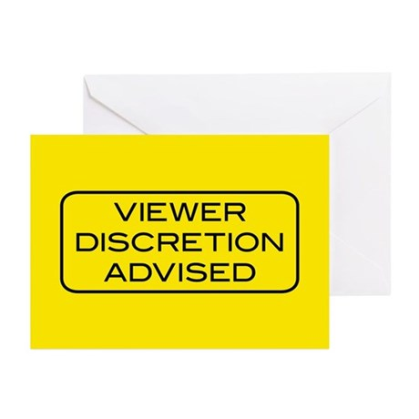 Viewer Discretion Advised Greeting Cards (Pk of 20