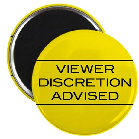 "Viewer Discretion Advised 2.25"" Magnet (100 pack)"