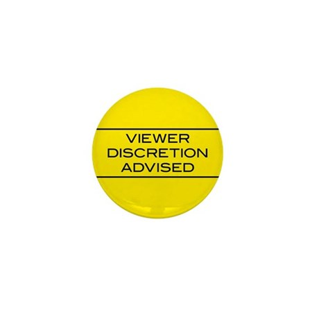 Viewer Discretion Advised Mini Button (10 pack)