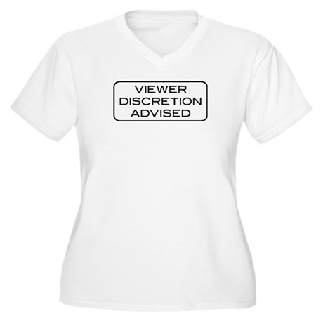 Viewer Discretion Advised Women's Plus Size V-Neck