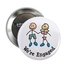 """We're Engaged 2.25"""" Button"""
