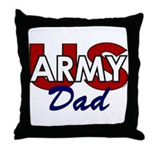 US Army Dad - Patriotic Throw Pillow