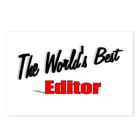 """The World's Best Editor"" Postcards (Package of 8)"