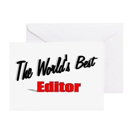 """The World's Best Editor"" Greeting Cards (Pk of 10"