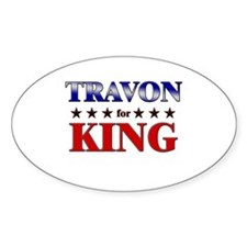 TRAVON for king Oval Decal