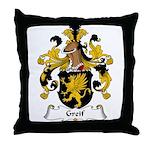 Greif Family Crest Throw Pillow