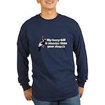 IBWO Smarter Than Skeptic Long Sleeve Dark T-Shirt
