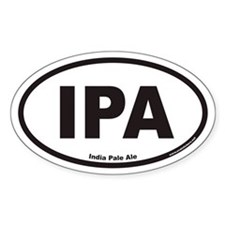 IPA India Pale Ale Oval Bumper Stickers