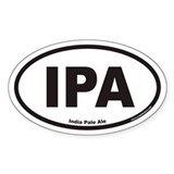 IPA India Pale Ale Oval Decal