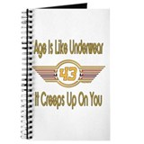 Funny 43rd Birthday Journal