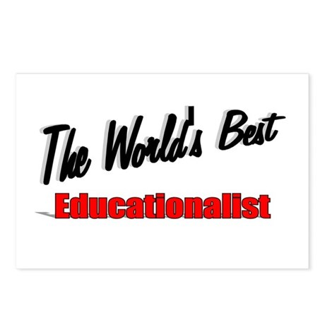 """The World's Best Educationalist"" Postcards (Packa"