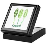 Think Love Live Green Keepsake Box